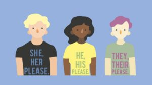 illustration about transphobia