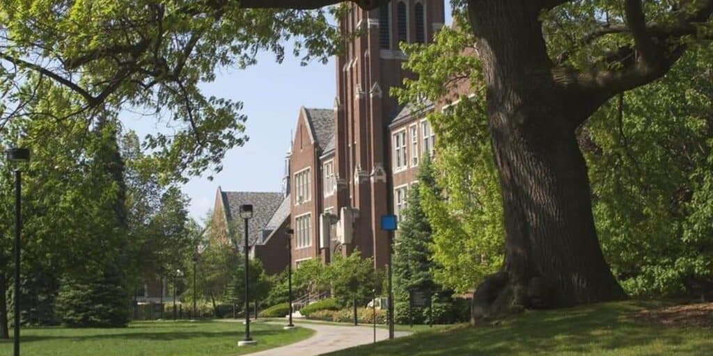 scenic photo of Nazareth college campus